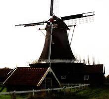 Windmolen, Deventer, Nederland by Wessel
