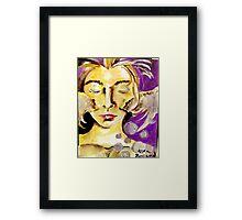 An angels face Framed Print