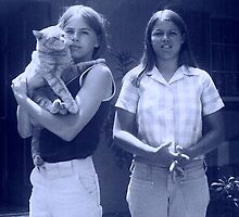 Cinnamon and Me...Oh yeah, and my sis, Deb by Hank Rodriguez
