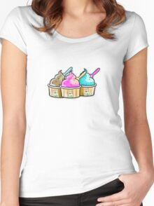 cool cow ice creams Women's Fitted Scoop T-Shirt