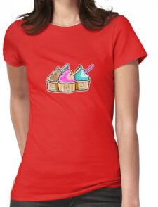 cool cow ice creams Womens Fitted T-Shirt