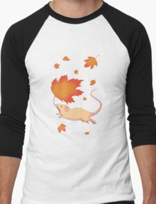 Autumn Leaves (silver fawn) Men's Baseball ¾ T-Shirt