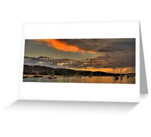 Storm Clouds - Newport Beach - The HDR Series Greeting Card