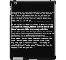 The Smiths Lyrics iPad Case/Skin
