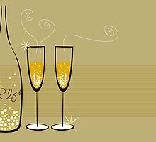 Champagne Bubbles Celebration by fatfatin