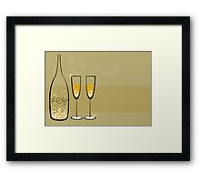 Champagne Bubbles Celebration Framed Print