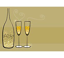 Champagne Bubbles Celebration Photographic Print