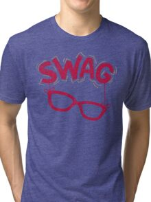 Swag Glasses typographic design Tri-blend T-Shirt