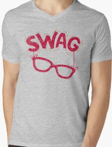 Swag Glasses typographic design Mens V-Neck T-Shirt