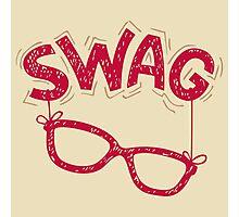 Swag Glasses typographic design Photographic Print