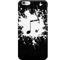 note in white paint iPhone Case/Skin