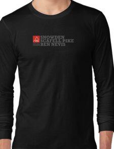 East Peak Apparel - Mountain Print - 3 Peak Challenge T-Shirts Long Sleeve T-Shirt