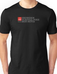 East Peak Apparel - Mountain Print - 3 Peak Challenge T-Shirts Unisex T-Shirt