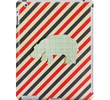 Hippo -vintage plaid and stripes iPad Case/Skin
