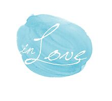 in Love typographic blue by MariondeLauzun