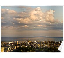 The port of Catania at sunset  Poster