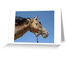Golden Turkmen beauty Greeting Card