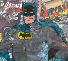Vintage Comic Bat Man by Daveseedhouse