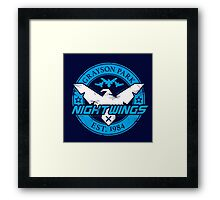 Grayson Park Nightwings White Blue (03 of 04) Framed Print