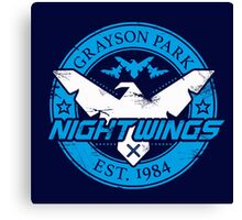 Grayson Park Nightwings White Blue (03 of 04) Canvas Print