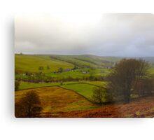 Rolling Hills in Yorkshire UK Metal Print