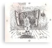 DUKE - GENESIS - HAND REDRAWN(C2012) Canvas Print