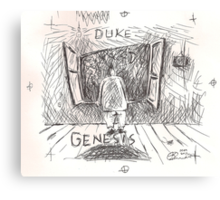DUKE - GENESIS - HAND REDRAWN(C2012) Canvas Print