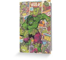Vintage Comic Hulk Greeting Card