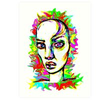 Psychedelic-Pop; Miss Polly Lipp Art Print