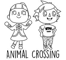 Animal Crossing Villagers Outline Photographic Print