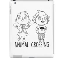 Animal Crossing Villagers Outline iPad Case/Skin