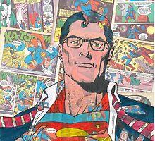Vintage Comic Superman by Daveseedhouse
