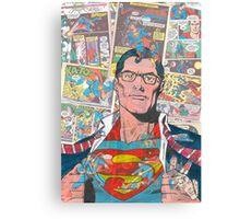 Vintage Comic Superman Canvas Print