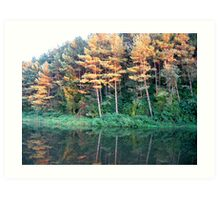Autumn...Lake Art Print