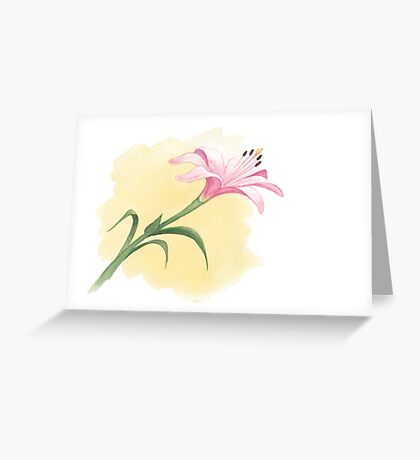 The Last Lily to Bloom Greeting Card