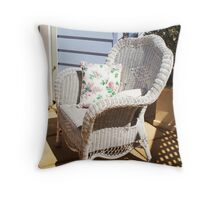 The Wicker Chair Throw Pillow