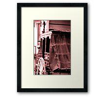 Coach at Rest Framed Print