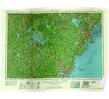 Maine USGS Historical Map Portland 807047 1956 250000 Poster