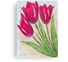Casual Tulips Canvas Print