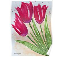 Casual Tulips Poster