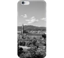 black and white Florence landscape iPhone Case/Skin