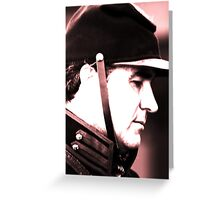 Soldier Contemplation Greeting Card