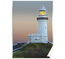 Byron Bay Lighthouse at Sunrise, Queensland, Australia Poster