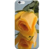 Yellow Rose on Glass iPhone Case/Skin