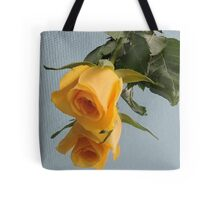 Yellow Rose on Glass Tote Bag
