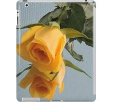 Yellow Rose on Glass iPad Case/Skin