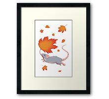 Autumn Leaves (blue) Framed Print
