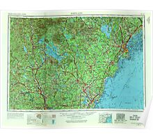 Maine USGS Historical Map Portland 807048 1956 250000 Poster
