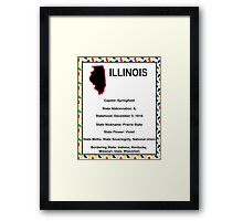 Illinois Information Educational Framed Print