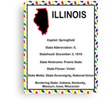 Illinois Information Educational Canvas Print